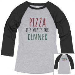 Pizza Dinner 3/4 sleeves grey