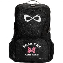 Fear the Cheer Bow Custom Cheerleader Sparkle Bags