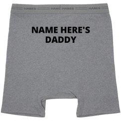 Custom Daddy Underwear