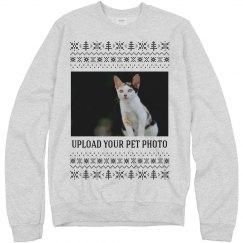 Custom Cat Photo Ugly Sweater