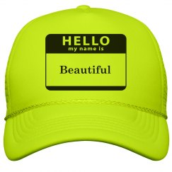 My name is beautiful hat