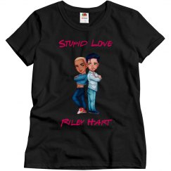 Stupid Love Women's black tee