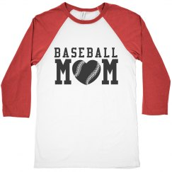 Cute Baseball Mom Jersey Shirt Raglan Sleeve