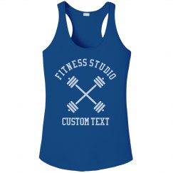 Custom Fitness Studio Workout Performance Tank
