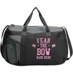 Custom Pink Glitter Cheer Bag