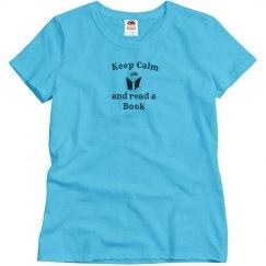 Keep Calm - Read Book blue