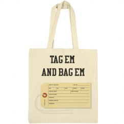 Toe Tag Canvas Bag