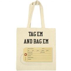 Toe Tag Canvas Bag