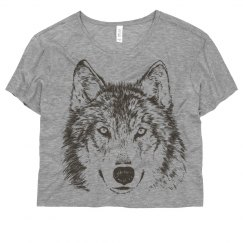Wolf Graphic on Coral