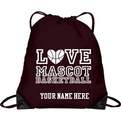 Love custom mascot basketball