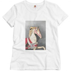 Horse in red (t-shirt)