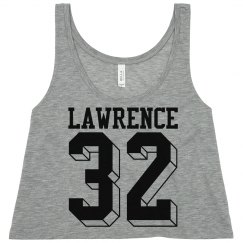 gg football crop tops with name number