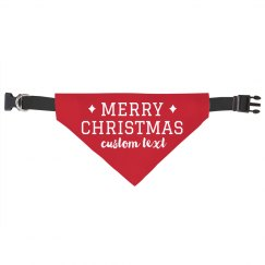 Merry Christmas Custom Pet Bandana