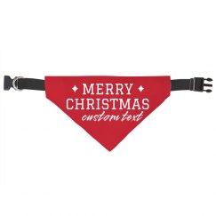Merry Christmas Custom Pet Bandana