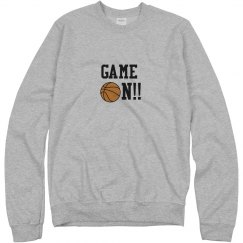 Basketball Game On Sweatshirt grey