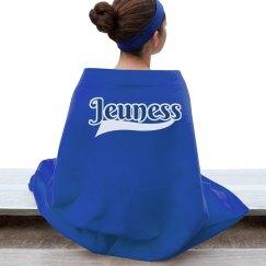 Jeuness Blue Stadium Blanket w/ Tail