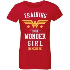 Training to be Wonder Girl Youth Tee