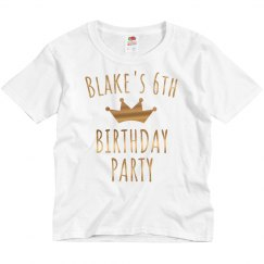 Custom Gold Metallic 6th Birthday Tee
