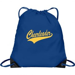 Blue and yellow cheer bag