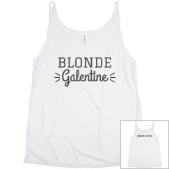 Custom Blonde Galentine Best Friend Tanks