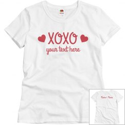 Valentine's Day XOXO Couples tee