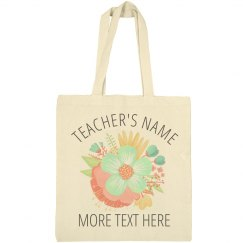 Trendy Floral Custom Teachers Gift