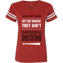 Baseball Mom Funny Quote Custom