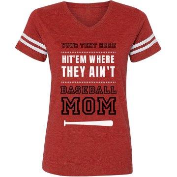 Baseball Mom Funny Quote Custom