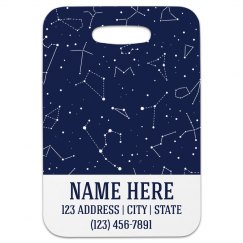 Custom Constellation Luggage Tag