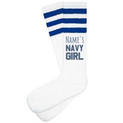 Custom Name Navy Girl