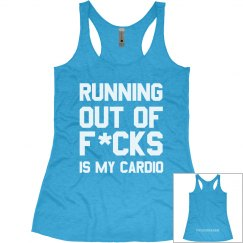 Running out of women's tank blue