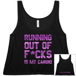 Running out of women's crop tank black