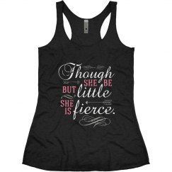She Is Fierce Blk Racerback Tank
