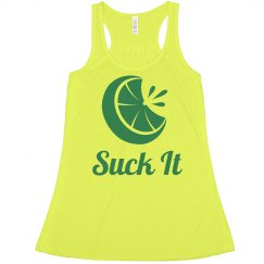 Suck It: Lime Wedge Matching Tequila Tanks