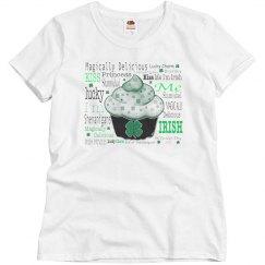Shamrock Cupcake St Patricks Day Text Design