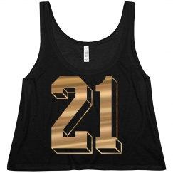 21st Birthday Gold