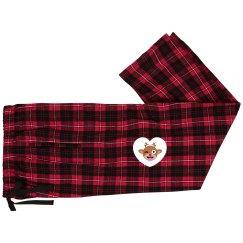 Unisex Custom Red, Black and Christmas Pajamas Pants
