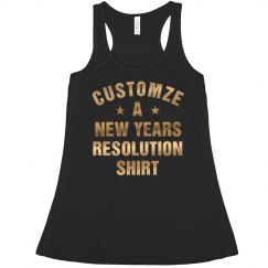 Custom Gold New Years Resolution