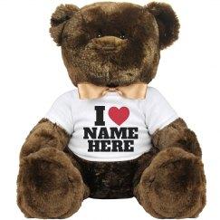 I Heart My Love Custom Plush