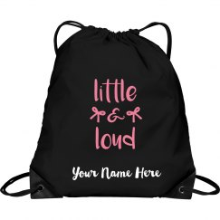 Custom Cheer Drawstring Backpack