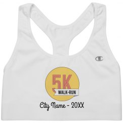 Custom City & Date 5K Running Bra