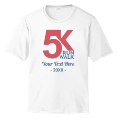 Custom Text 5K Running Tee