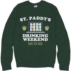 St. Patty's Custom Drinking Sweater