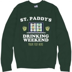 St. Patty's Custom Drinking Sweater