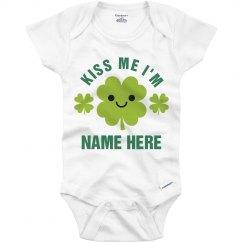 Kiss This St. Patrick's Baby Onesie
