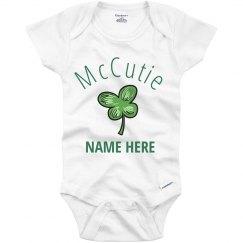 McCutie Baby's Custom Shamrock