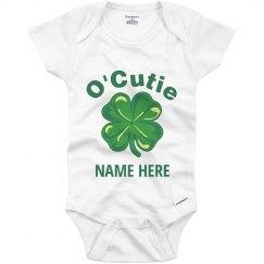 Custom O'Cutie Irish Baby Shamrock