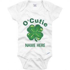 Custom O'Cutie Irish Baby Shamrock