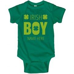 Custom Shamrock Irish Boy