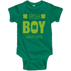 Custom Shamrock Irish Boy